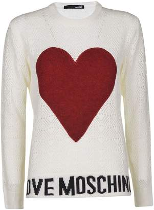 Love Moschino Logo Heart Sweater