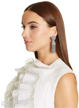 Oscar de la Renta Silver Classic Short Tassel Earrings
