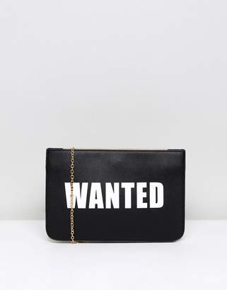 Claudia Canova Novelty Wanted Clutch Bag