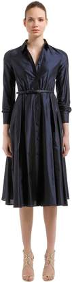 Max Mara Silk Shantung Midi Dress