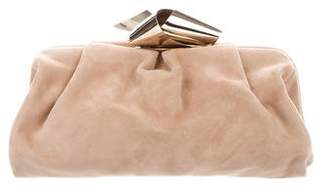 Jimmy Choo Suede Clutch Bag