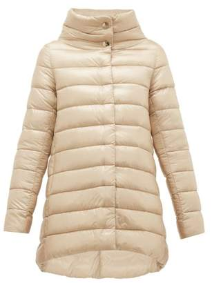 Herno Amelia High Neck Quilted Jacket - Womens - Beige
