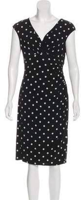 Lauren Ralph Lauren Poka-Dot Knee-Length Dress