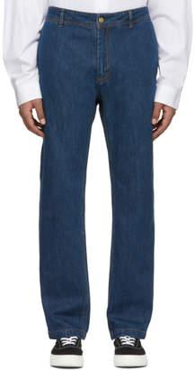 Acne Studios Bla Konst Indigo Natural Jino Trousers