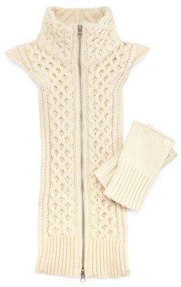 Veronica Beard Upstate Knit Dickey w/Cuffs, Ivory $250 thestylecure.com