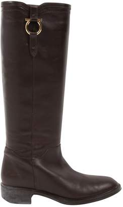 Salvatore Ferragamo Leather riding boots