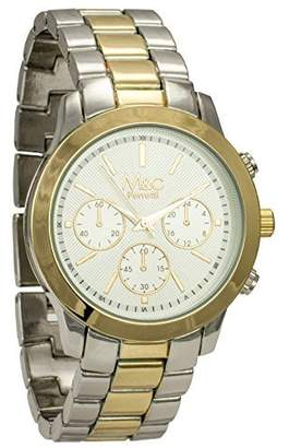 MC M&c Ferretti Women's | Chronograph -Tone Textured Big Dial Watch | FT14203