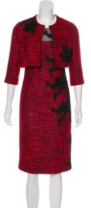 Teri Jon Wool-Blend Dress Set