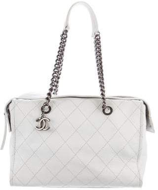 Chanel Large Zip Shopping Tote