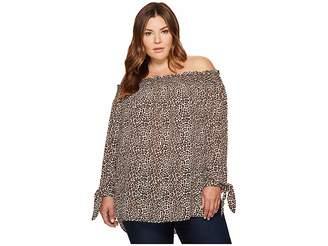 MICHAEL Michael Kors Size Leopard Off Shoulder Top Women's Clothing