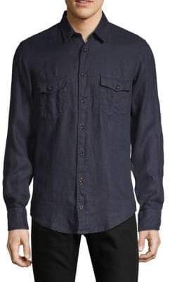 HUGO BOSS Classic Linen Button-Down Shirt
