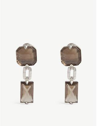 GOOSSENS Baguette stone drop earrings