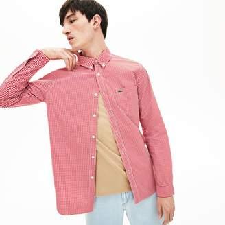 2f529fe9 Lacoste Men's Motion Regular Fit Check Poplin Shirt