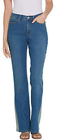 Denim & Co. Studio by Denim &Co. Reg Classic Denim Jeans w/Novelty Detail