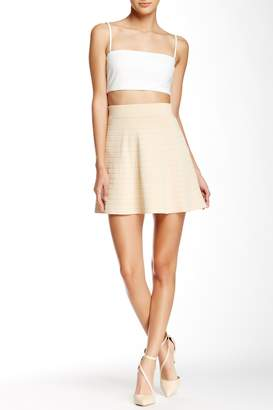 Wow Couture Ribbed Skater Skirt