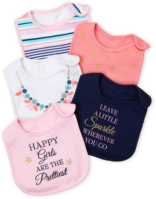Baby Essentials Little Treasure (Newborn Girls) 5-Pack Leave A Little Sparkle Bibs