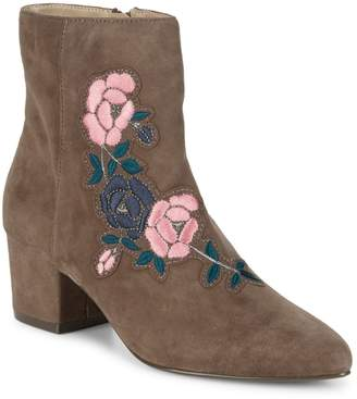 Steven by Steve Madden Brooker Suede Embroidered Ankle Boots