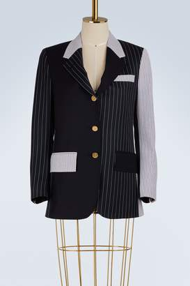 Thom Browne Mixed stripe wool blazer