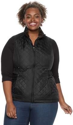 d2d18e08d43 Plus Size Weathercast Quilted Velour-Lined Vest