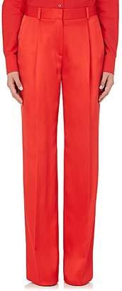 Givenchy WOMEN'S SILK-BLEND SATIN WIDE-LEG PANTS