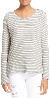 Frame Denim Le Boxy Crew Cotton Sweater $329 thestylecure.com