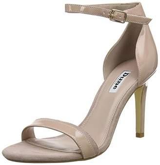Dune Women's Merino Ankle Strap Heels, Beige Camel-Patent, 8 (41 EU)