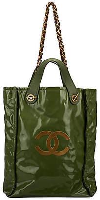One Kings Lane Vintage Chanel Lim. Ed Green PVC Harrods Handbag - Vintage Lux
