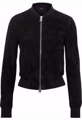 Theory Suede Bomber Jacket