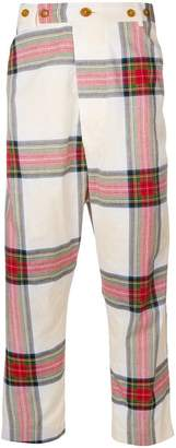 Vivienne Westwood checked loose fit trousers