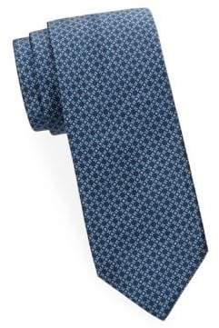 Brioni Mini Diamond Silk Tie