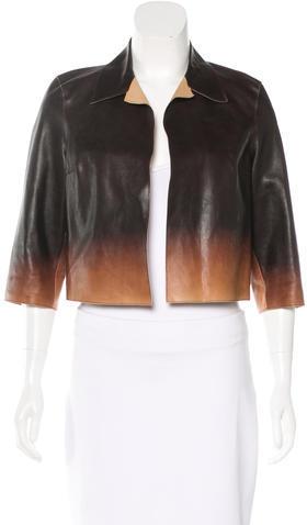 pradaPrada Cropped Leather Jacket
