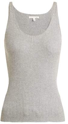 Skin - Valerie Ribbed Knit Cotton Blend Cami Top - Womens - Grey