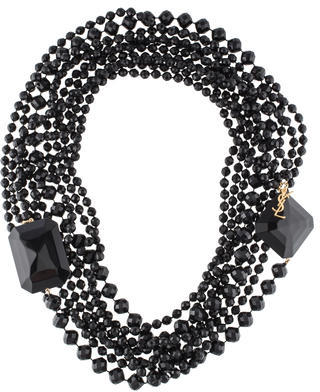Saint Laurent Yves Saint Laurent Long Multistrand Bead Necklace