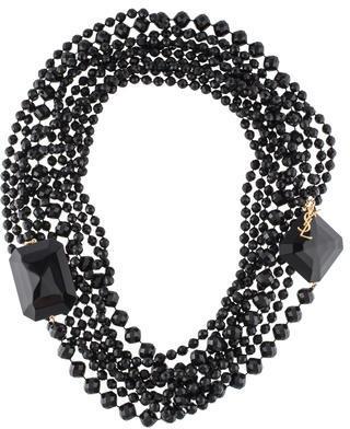 Saint LaurentYves Saint Laurent Long Multistrand Bead Necklace