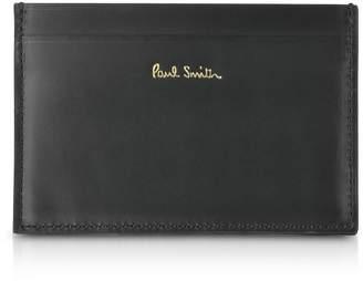 Paul Smith Black Mini Print Leather Men's Credit Card Holder