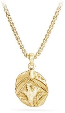 David Yurman Davidyurman Shipwreck Coin Amulet In 22K Gold, 23Mm