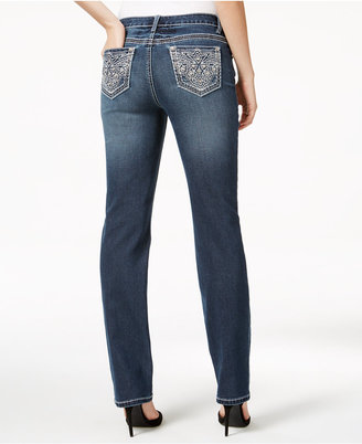 Earl Jeans Embellished Dark Wash Straight-Leg Jeans $54 thestylecure.com