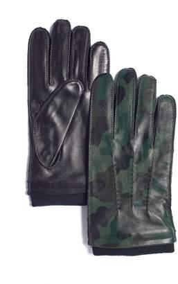 Marron Urban Jungle Skeena Camouflage Leather Gloves