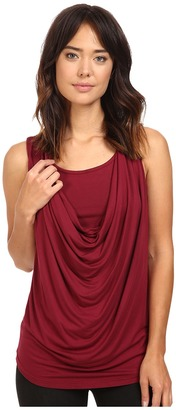 Christin Michaels Freida Sleeveless Cowl Neck Top with Built-In Camisole $59 thestylecure.com