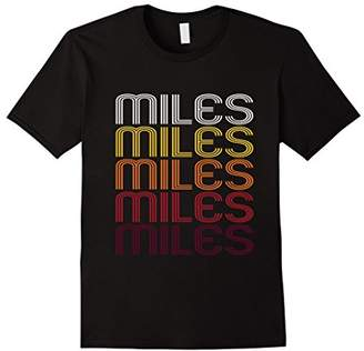 Miles Retro Wordmark Pattern - Vintage Style T-shirt