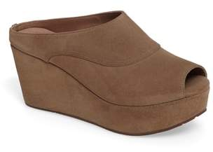 Chocolat Blu Wind Platform Wedge Mule