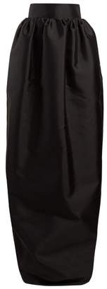 The Row Ranel Silk Mikado Maxi Skirt - Womens - Black