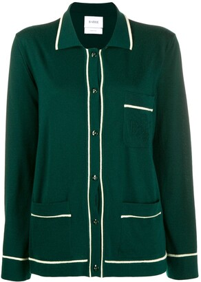 Barrie piped cashmere cardigan