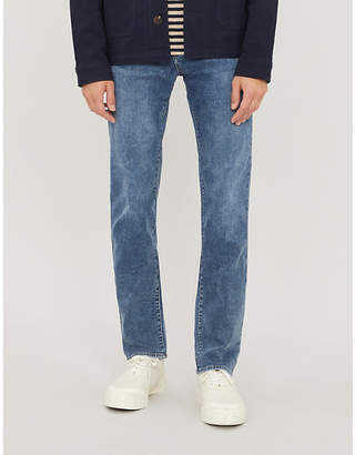 J Brand Kane straight-fit French-terry jeans