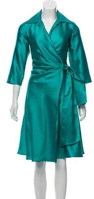 Max Mara Silk Blend Wrap Dress