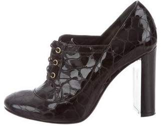 Emporio Armani Embossed Ankle Booties