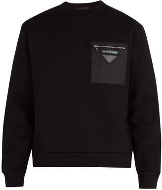 Prada Panelled cotton-blend sweatshirt