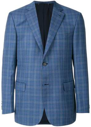 Brioni plaid blazer
