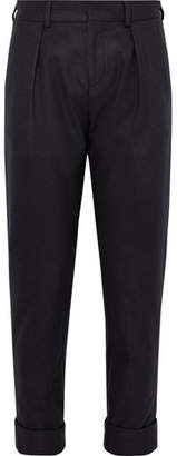 MAISON KITSUNÉ Joe Slim-Fit Pleated Wool-Blend Trousers