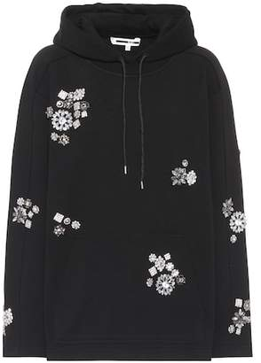 McQ Embellished cotton hoodie